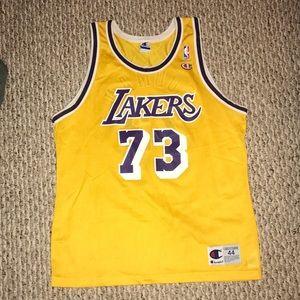 Dennis Rodman Lakers Champion Jersey